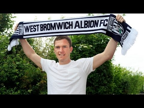 Craig Gardner is interviewed as a West Bromwich Albion player for the first time