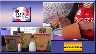 Pintar y decorar macetas