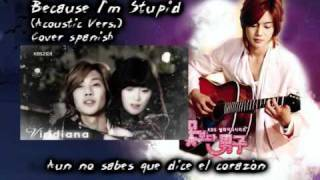 KIM HYUN JOONG BECAUSE I'M STUPID ACOUSTIC / SPANISH
