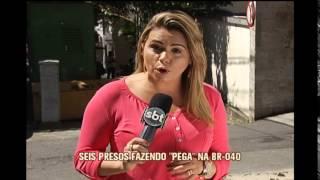 Seis homens s�o presos fazendo pega na BR-040, em Nova Lima