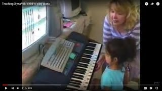 Teaching 3 Year Old Child To Play Piano