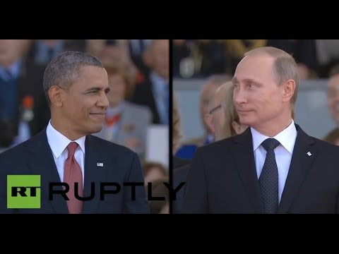 Putin, Obama at D-Day 70th anniversary ceremony