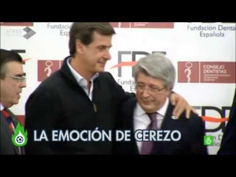 Enrique Cerezo presidente del Atlético de Madrid se emociona