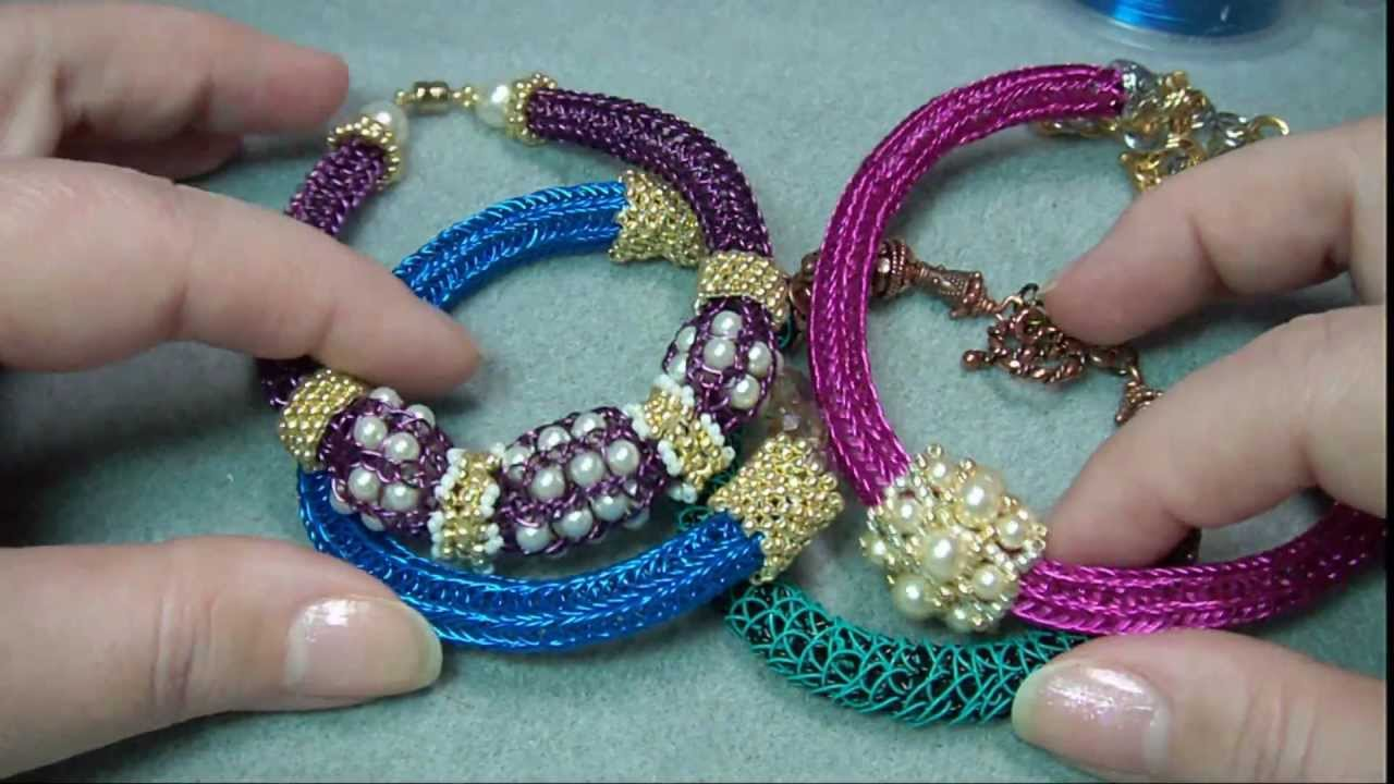 Viking Knit Jewelry Patterns : Viking Knit Jewelry Embellishments - YouTube