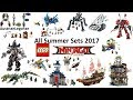 All Lego Ninjago Movie Summer Sets 2017 Compilation Lego Speed Build Review