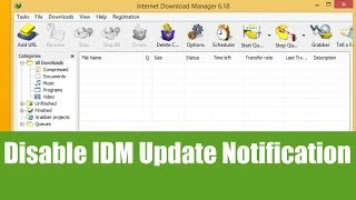 Easily Disable IDM Update Checking/Notification