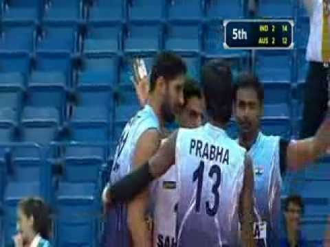 INDIA 3 -AUS 2- 17th asian senior mens volleyball championship