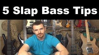 5 Slap Bass Tips. Slap better today.