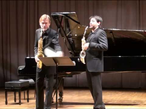 Hindemith Konzertstück für zwei alt Saxophone