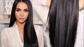 HOW TO: SLEEK & SHINY STRAIGHT HAIR | Carli Bybel