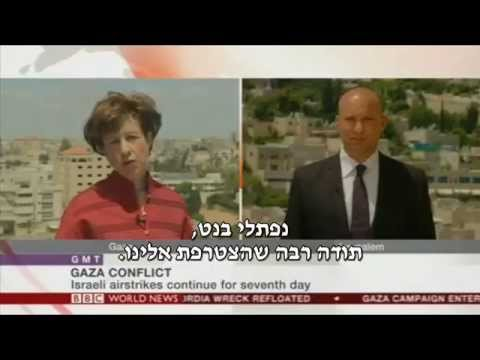 Bennett on BBC: Hamas a coward. Killing its own children