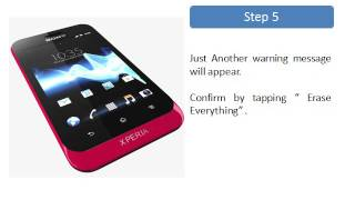 Sony Xperia Tipo Factory Reset