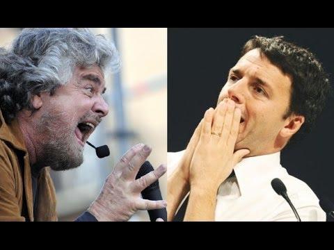 Beppe Grillo POLVERIZZA Matteo Renzi FACCIA A FACCIA! Fantastico!