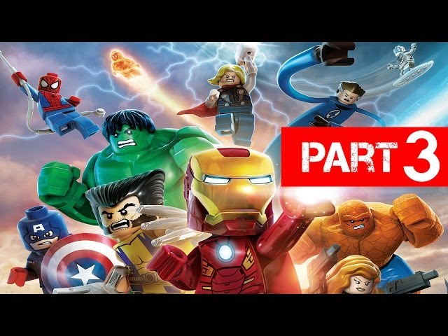 LEGO Marvel Super Heroes Gameplay Walkthrough Part 3 - Exploratory Laboratory Let's Play Xbox PS3 PC