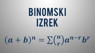 Binomski izrek in Pascalov trikotnik