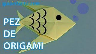 Origami: Como hacer un pez de papel
