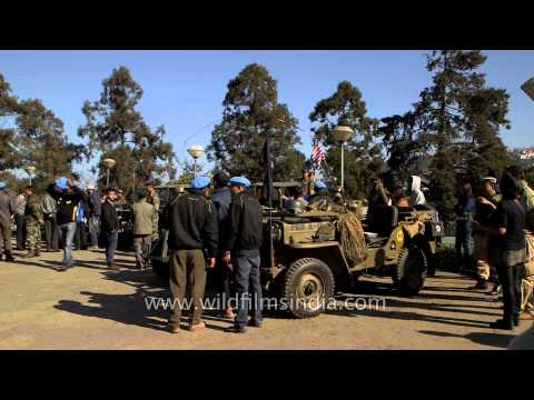 Convoys of Vintage Classic jeep at Kohima