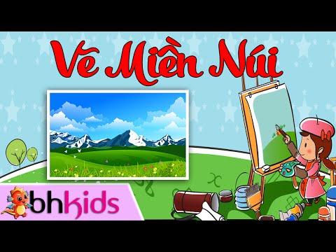 Vẽ Phong Cảnh Miền Núi - Dạy Bé Tập Vẽ