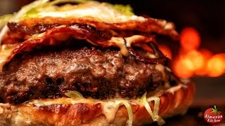 Ultimate Bacon Burger! - Cooking Outside