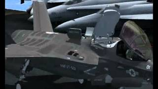 FSX Flight Simulator X F-35B Lightning II STOVL Test