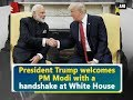 President Trump welcomes PM Modi with a handshake at White House USA News