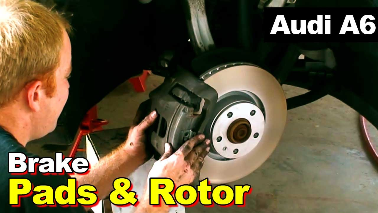 2008 Audi A6 Front Brake pads and Rotor Replacement - YouTube