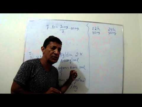 Regra de três Parte 3 envolvendo medicamentos Prof Flanmarion