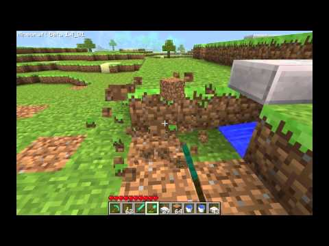 Minecraft - Wheat Farm Tutorial Part 1: Automatic Fields