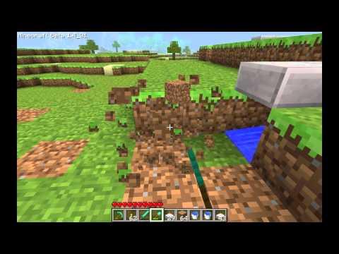 Minecraft - Wheat Farm Tutorial Part 1: Automatic Fields