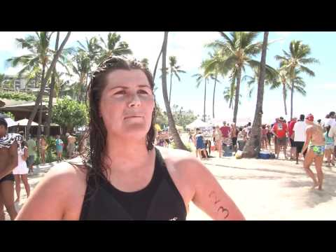 Luan Row Post Race - 2011 Waikiki Rough Water Swim