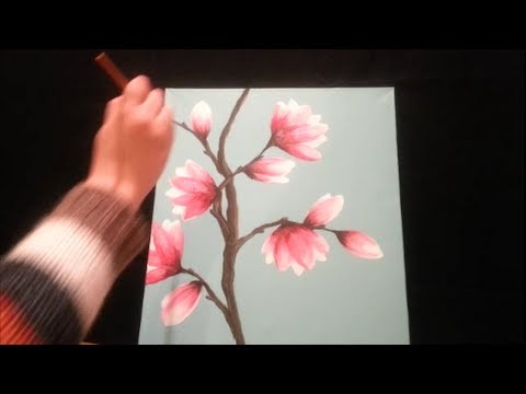 How to paint magnolia blossoms step by step youtube for How to paint a rose in watercolor step by step