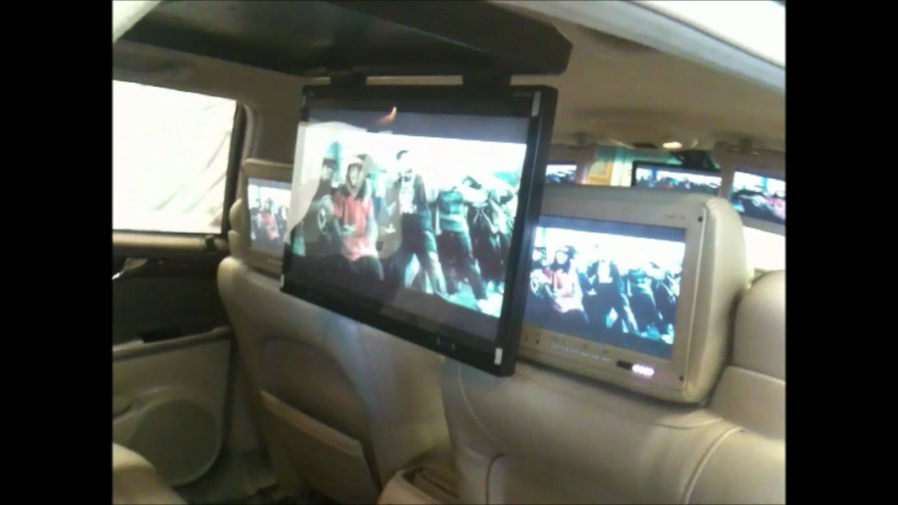 Biggest flip down car tv