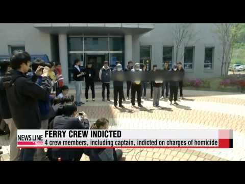 Sewol-ho ferry crew members indicted