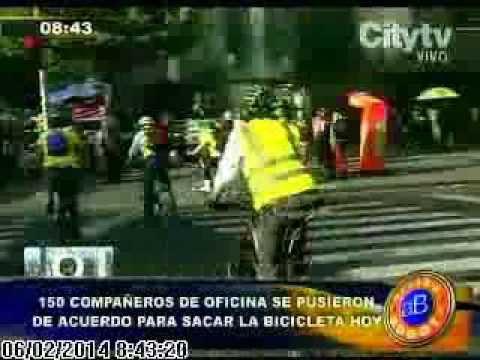 Video dia sin carro City TV Feb 06 14 Video