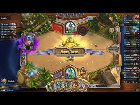 HearthStone  All Golden Legendary Druid Deck, No Astral