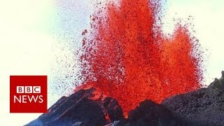 Lava pours out Hawaii's Kilauea Volcano - BBC News