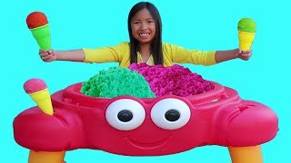 Wendy Pretend Play Selling SAND Ice Cream Crab Toy Shop