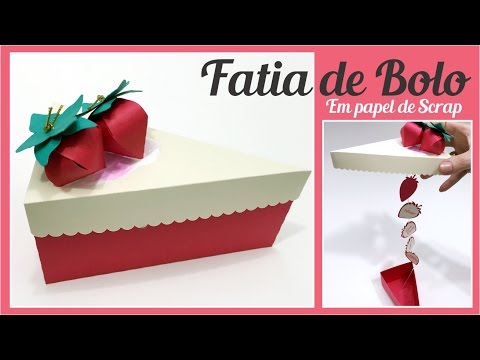 POLYFORT EXTRA - DIY: Fatia de bolo de morango em papel