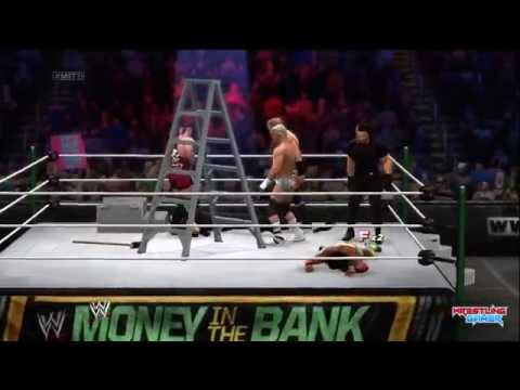 Seth Rollins wins Money In The Bank! Money in the bank ladder match 2014 Result!