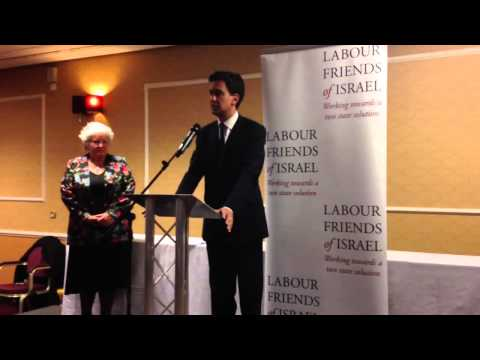 Ed Miliband MP addresses Labour Friends of Israel fringe #Lab13