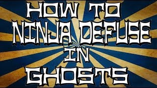 How To Ninja Defuse In Call Of Duty Ghosts