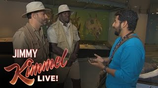 Jimmy Kimmel Tries to Prove Dinosaurs Are Real to LA Rams Player William Hayes