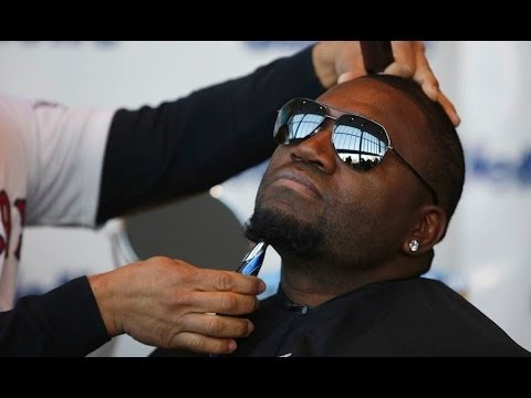 World Series champs David Ortiz and Shane Victorino shave beards for good cause