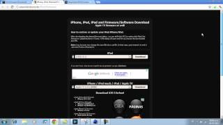Descargar Cualquier Firmware/iOS Para IPhone/iPad/iPod