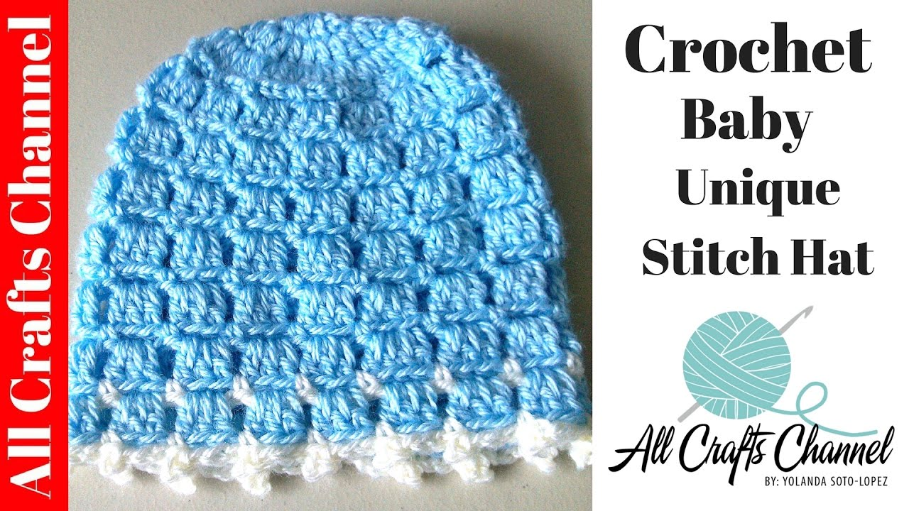 Crochet Easy and unique stitch hat tutorial - YouTube