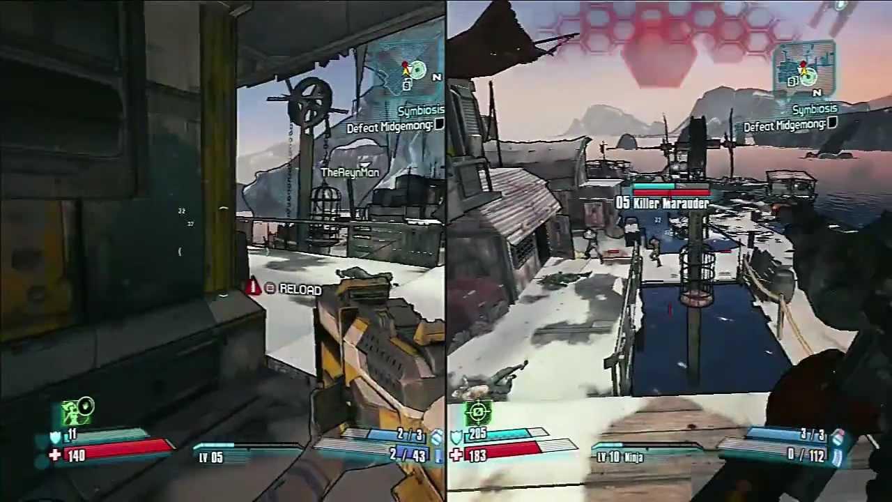 Borderlands 2 Split screen Co-op gameplay with the wife ... Borderlands 2 Accounts Split Screen Xbox One