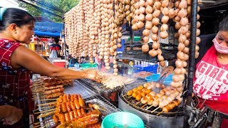 Street Food in Thailand - NIGHT MARKET Thai Food in Chiang Mai, Thailand!