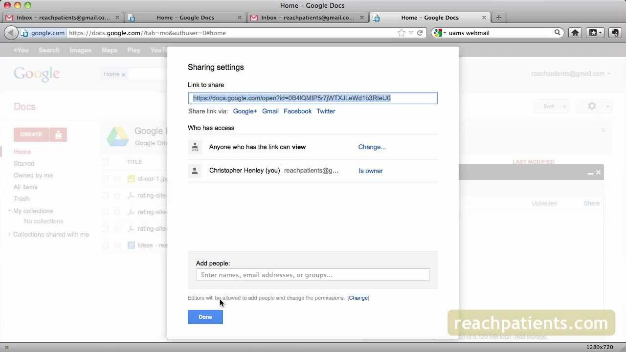 how to share google drive with a group