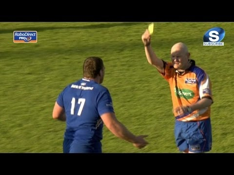 Jack McGrath Yellow Card Leinster v Benetton Treviso 18th April 2014
