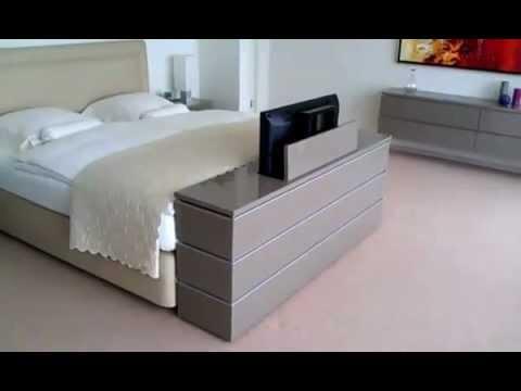 Exodio montpellier tv lift meuble youtube for Meuble tv escamotable motorise